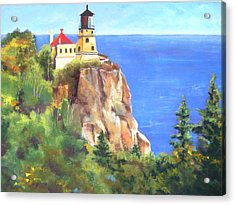 Split Rock Lighthouse Acrylic Print by Vicki Brevell