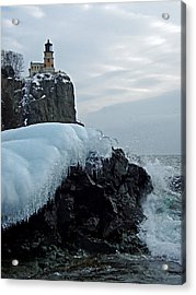 Split Rock Lighthouse Winter Acrylic Print