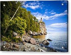 Split Rock Shoreline Acrylic Print by Mark David Zahn