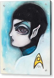 Spock Acrylic Print by Abril Andrade Griffith