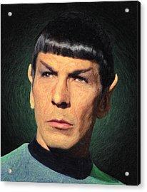 Spock Acrylic Print by Taylan Apukovska