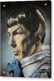 Spock - The Pain Of Loss Acrylic Print by Liz Molnar