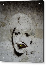 Spoiled Portrait In The Wall Acrylic Print by Ramon Martinez