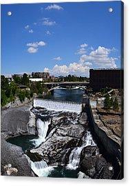 Spokane Falls And Riverfront Acrylic Print by Michelle Calkins