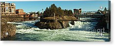 Spokane Falls - Spokane Washington Acrylic Print by Beve Brown-Clark Photography