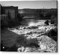 Spokane Falls Spring Flow Acrylic Print