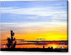 Spokane Wa Sunset Acrylic Print by Chris Heitstuman
