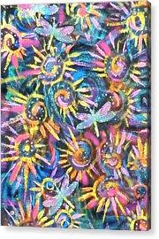 Dancing Dragonflies Acrylic Print