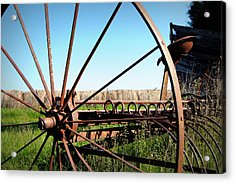 Spokes Acrylic Print by Cricket Hackmann