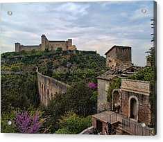 Spoleto And The Appian Way Acrylic Print by Hugh Smith