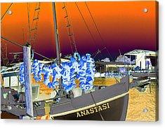 Sponge Boat Sabattier Acrylic Print