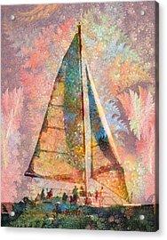 Spontaneity Paradise Nautical Visionary  Acrylic Print by Betsy Knapp