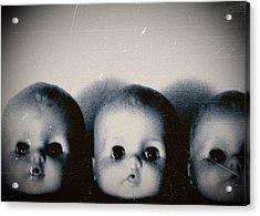 Spooky Doll Heads Acrylic Print by Patricia Strand