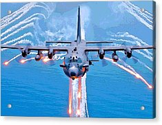 Spooky Gunship In Action Acrylic Print
