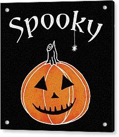 Spooky Jack O Lantern I Acrylic Print by Elyse Deneige