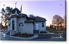 Spooky Looking Church In Chino - 02 Acrylic Print by Gregory Dyer