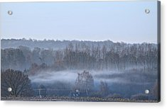 Spooky Winters Morning Acrylic Print by Karen Grist