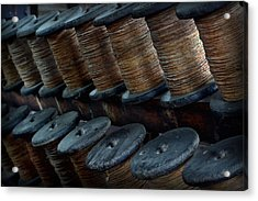 Acrylic Print featuring the photograph Spools In A Row by Nadalyn Larsen
