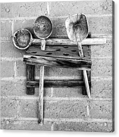 Acrylic Print featuring the photograph Spoon Rack by Beverly Parks