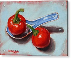 Acrylic Print featuring the painting Spoonful Of Chilli by Margaret Stockdale