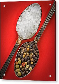 Spoonfuls Of Salt And Pepper Acrylic Print by Susan Candelario