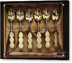 Spoons Acrylic Print by Ranjini Kandasamy