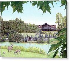 Sporting Clays At Seven Springs Mountain Resort Acrylic Print by Albert Puskaric