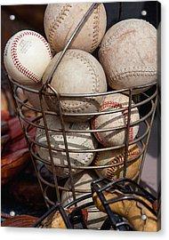 Sports - Baseballs And Softballs Acrylic Print by Art Block Collections