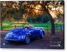 Sports Car Golf Course Sunset Acrylic Print