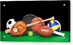 Sports Equipment Acrylic Print