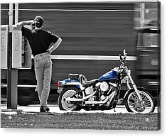 Sportster Calling Acrylic Print by Christopher McKenzie