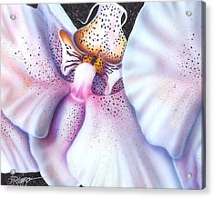 Acrylic Print featuring the painting Spotted Orchid by Darren Robinson