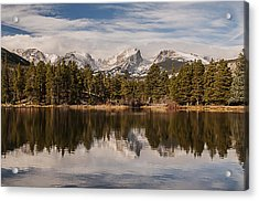Sprague Lake Reflection In The Morning Acrylic Print