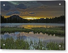 Sprague Lake Sunrise Acrylic Print by Tom Wilbert