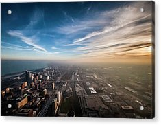 Sprawling City Looking South Acrylic Print by By Ken Ilio