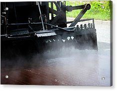 Spraying Bitumen During Road Resurfacing Acrylic Print by Ian Gowland/science Photo Library