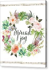 Spread Joy Wreath Acrylic Print