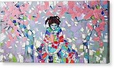 Acrylic Print featuring the painting Spring by Anastasija Kraineva
