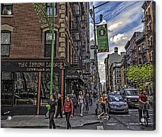 Spring And Mulberry - Street Scene - Nyc Acrylic Print