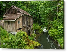 Spring At Cedar Creek Grist Mill Acrylic Print