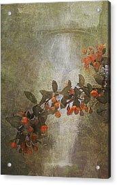 Spring At Multnomah Falls Acrylic Print by Jeff Burgess
