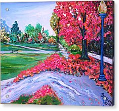 Spring At The Common Acrylic Print