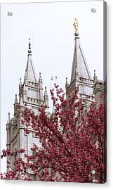 Spring At The Temple Acrylic Print