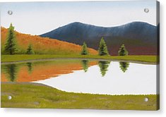 Spring At Three Sisters Pond Acrylic Print by Bruce Richardson