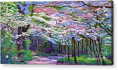 Spring Blossom Pathway Acrylic Print