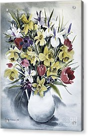 Acrylic Print featuring the painting Spring Bouquet by Joan Hartenstein