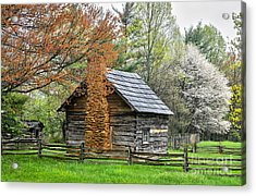 Spring Cabin I - Blue Ridge Parkway Acrylic Print by Dan Carmichael