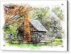 Spring Cabin II - Blue Ridge Parkway Acrylic Print by Dan Carmichael