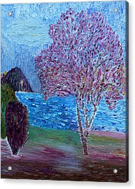Spring Crabapple Tree Acrylic Print by Vadim Levin