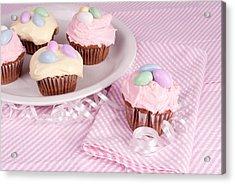Cupcakes With A Spring Theme Acrylic Print by Vizual Studio